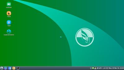 Tampilan Asril OS Linux Indonesia