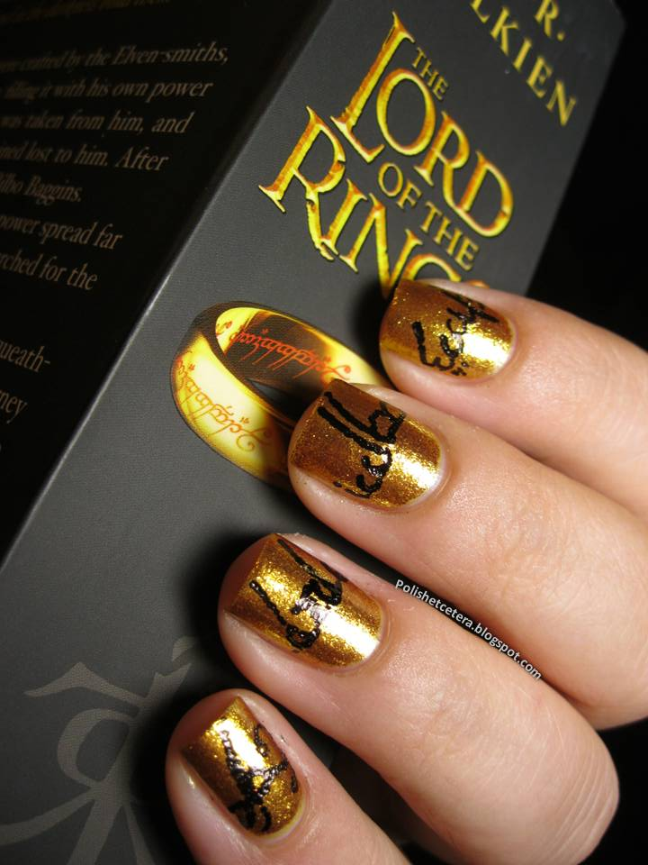 The One Ring Nail Art - Polish Etc.