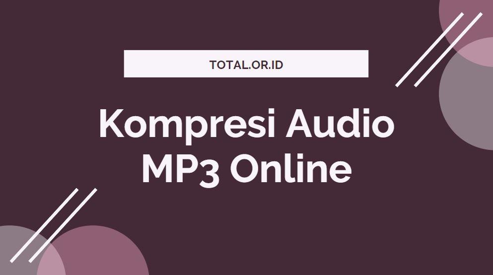 tool kompres audio secara online