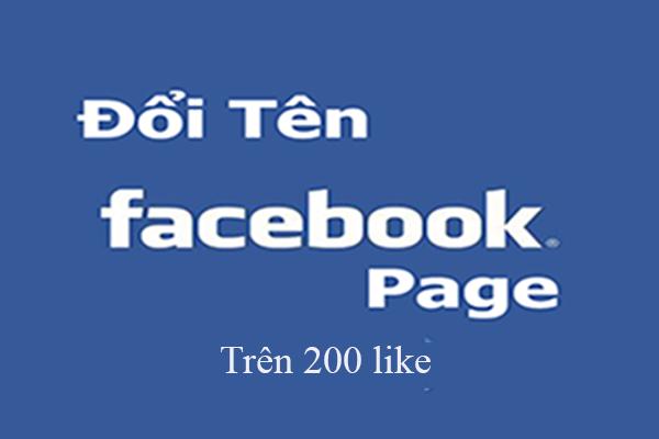 Facebook cho phép fanpage được đổi tên trên 200 like