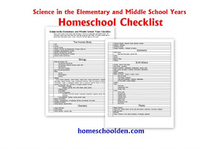 http://homeschoolden.com/2015/06/02/homeschool-science-unit-checklist-for-elementary-and-middle-school/