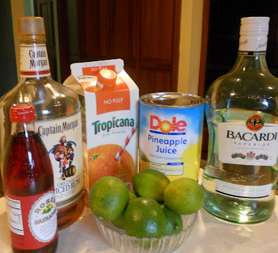 Rum Punch Ingredients