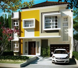 The latest design minimalist House 2 floor Type 45