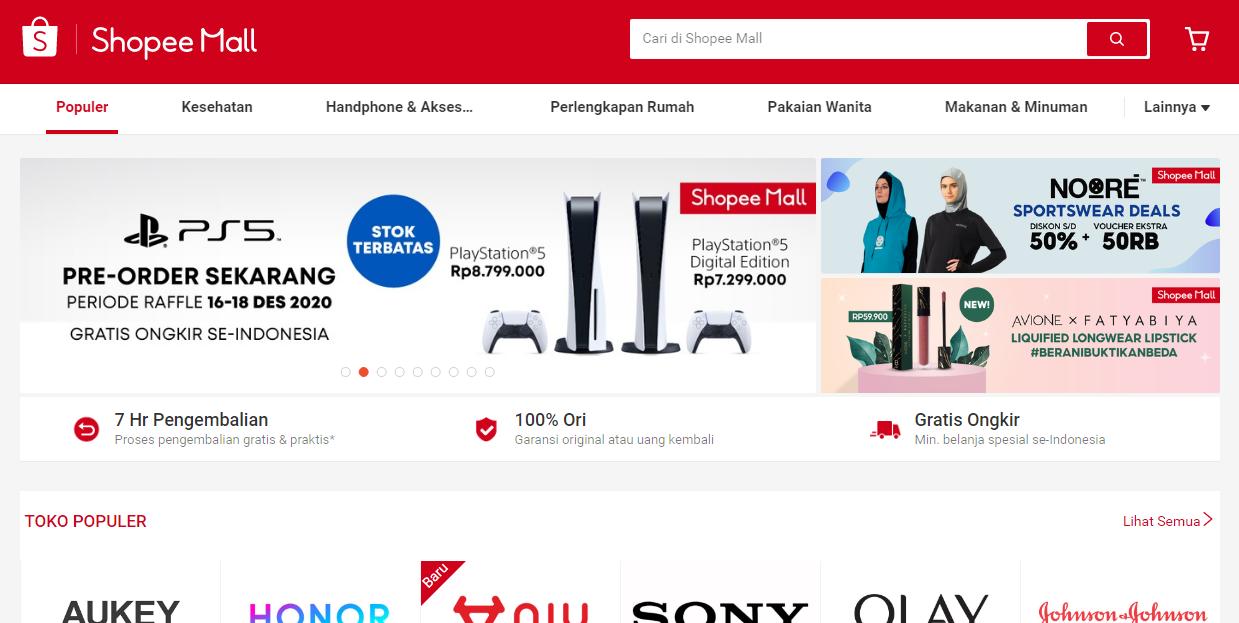 Kelebihan dan Keuntungan Belanja di Shopee Mall