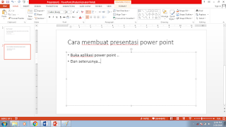 cara membuat slide presentasi power point 2013