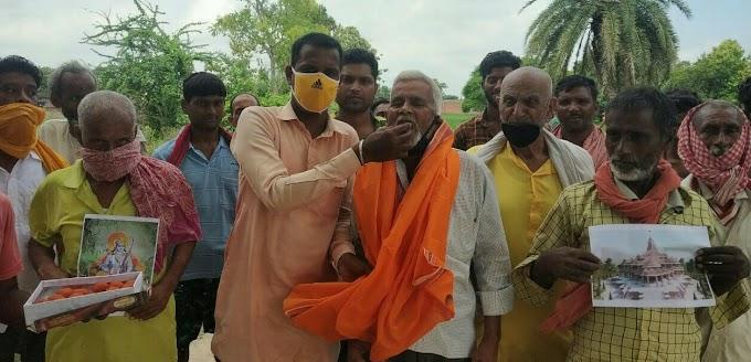 श्रीराम जन्मभूमि : बलिया में आतिशबाजी संग बंटी मिठाई, कारसेवक ने कही ये बात