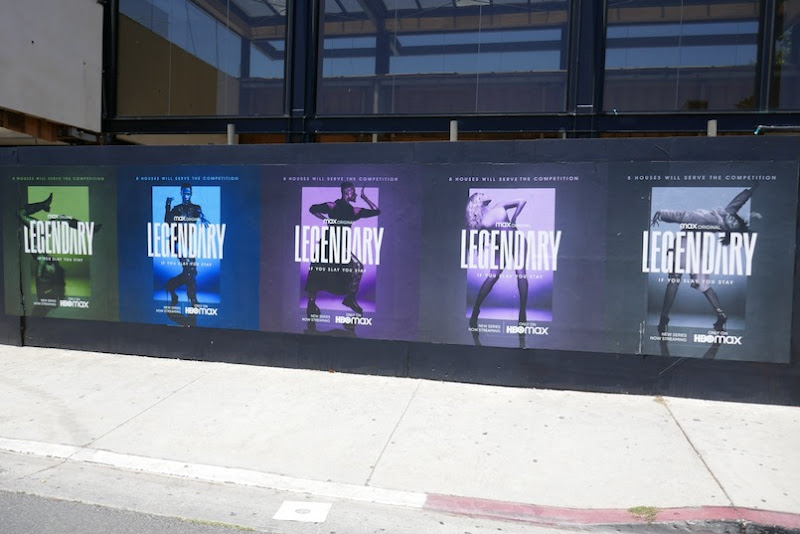 Legendary HBO Max street posters