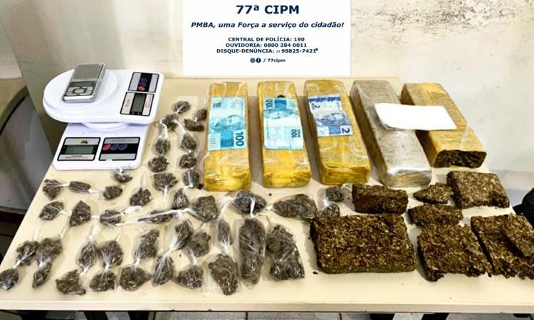 Homem é preso em flagrante por tráfico de drogas em Vitória da Conquista