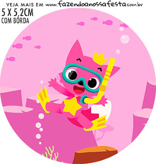 Baby Shark Party: Free Printable Cupcake Toppers.