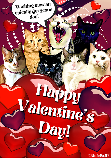 Basil & The B Team Valentine's Card 2021 ©BionicBasil®