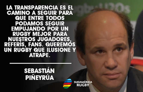 Sebastián Piñeyrúa, Presidente de Sudamérica Rugby.