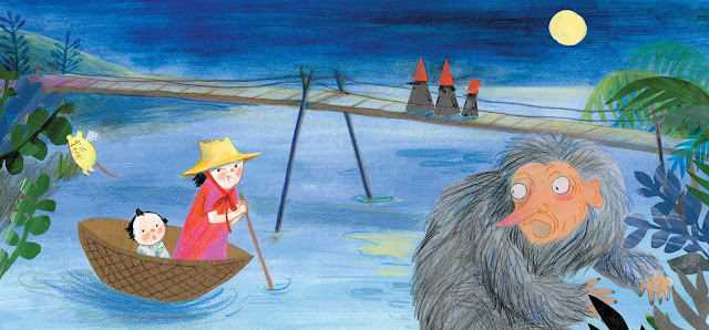Clever Little Witch book illustration