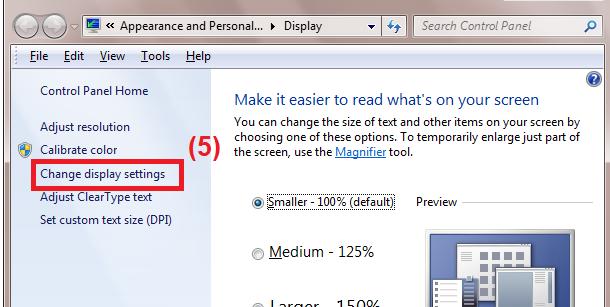 Hướng dẫn chỉnh độ phân giải Windows 7 8