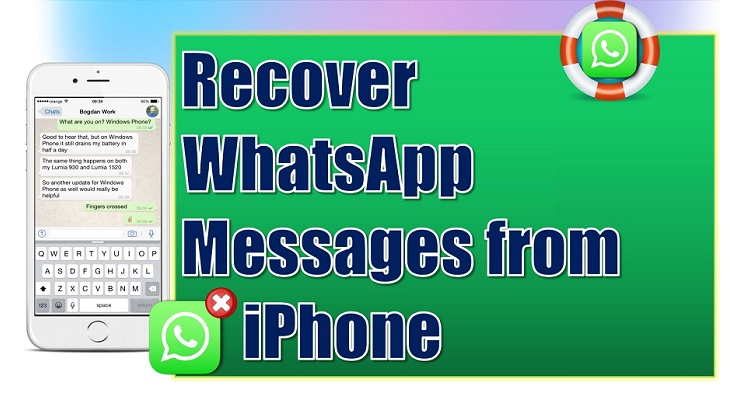 Recover WhatsApp Messages from iPhone, iPadm iPod touch