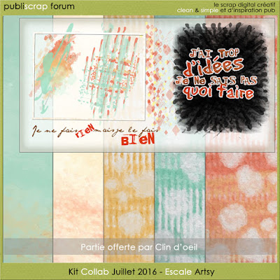 clin d'oeil design clindoeildesign Kit publiscrap freebie Escale ARTSY