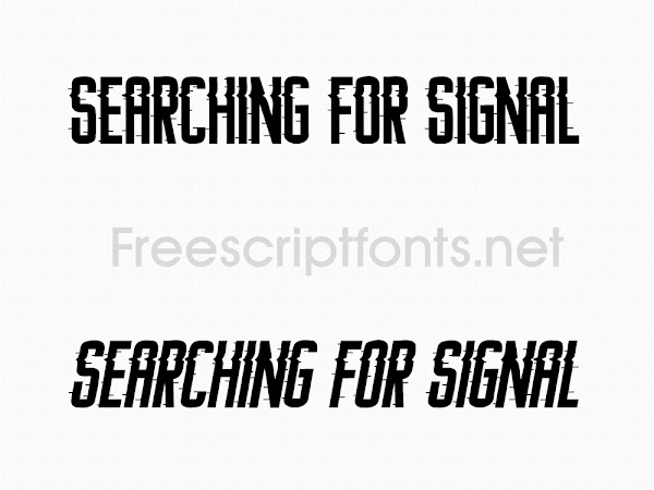 Searching For Signal - Distorted Font Free Download