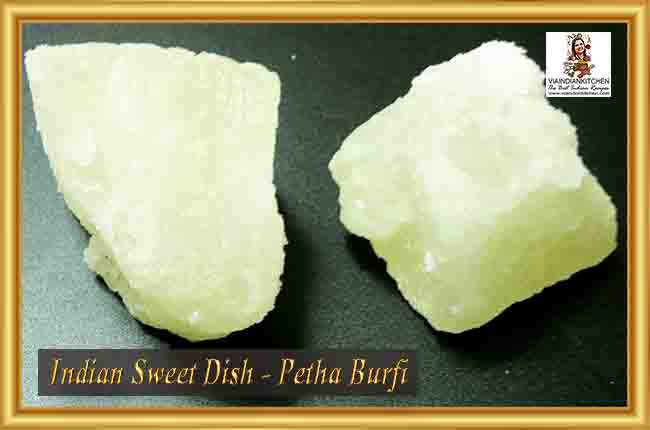 Indian Sweet Dishes - Petha Burfi