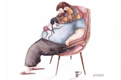 pai e filha cochilo na cadeira-Snezhana-Soosh_Eliseu-Antonio-Gomes_Belverede