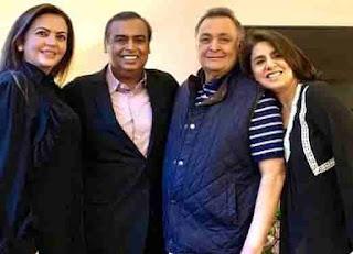 Ranbir Kapoor's parents with Mukesh Ambani & Nita Ambani