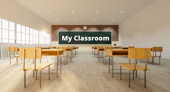 My Classroom Essay in Hindi Language