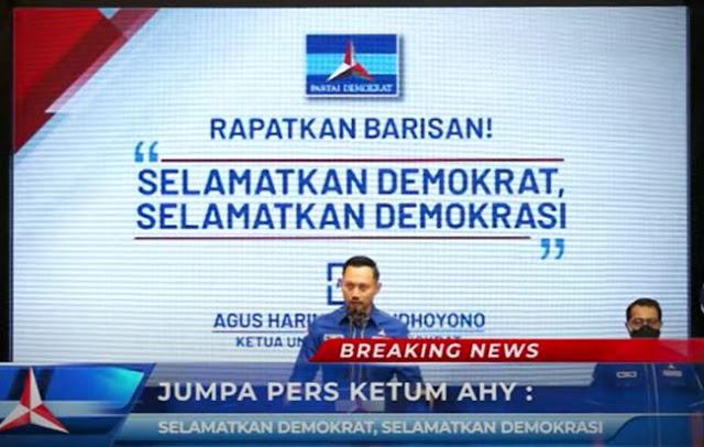 Konferensi Pers KLB Partai Demokrat AHY - SBY