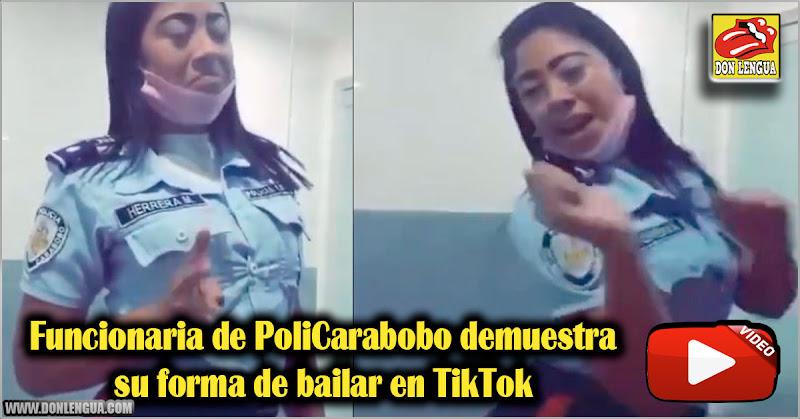 Funcionaria de PoliCarabobo demuestra su forma de bailar en TikTok