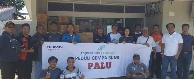 Bandara Internasional Sultan Hasanuddin Tanggap Bantu Korban Gempa Palu