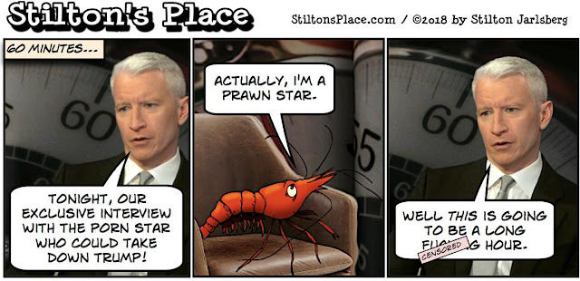 stilton's place, stilton, political, humor, conservative, cartoons, jokes, hope n' change, 60 minutes, stormy daniels, porn, anderson cooper, trump