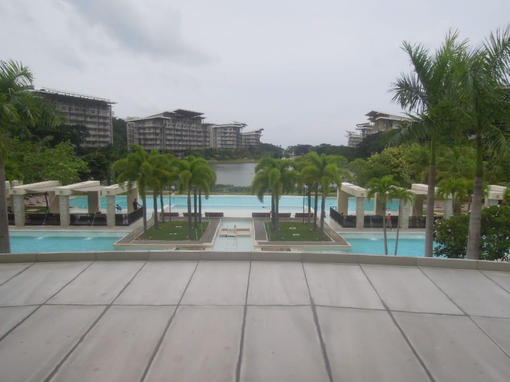 View of the swimming pools at Pico de Loro Beach & Country Club