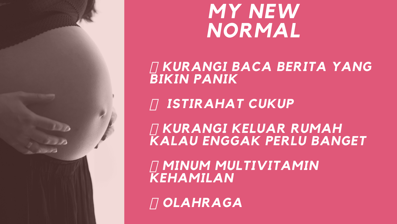kebiasaan new normal ibu hamil