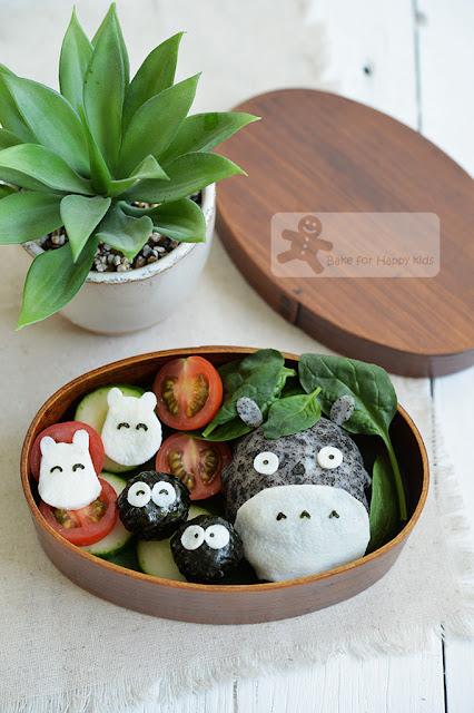 totoro bento rice ball