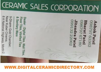 CERAMIC SALES CORPORATION - 9879767180