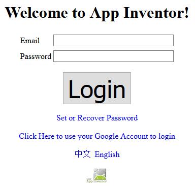 login app inventor