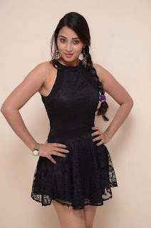 Actress Bhanu Sri Stills in Black Short Dress at Dandu Movie Audio Launch  0002.jpg