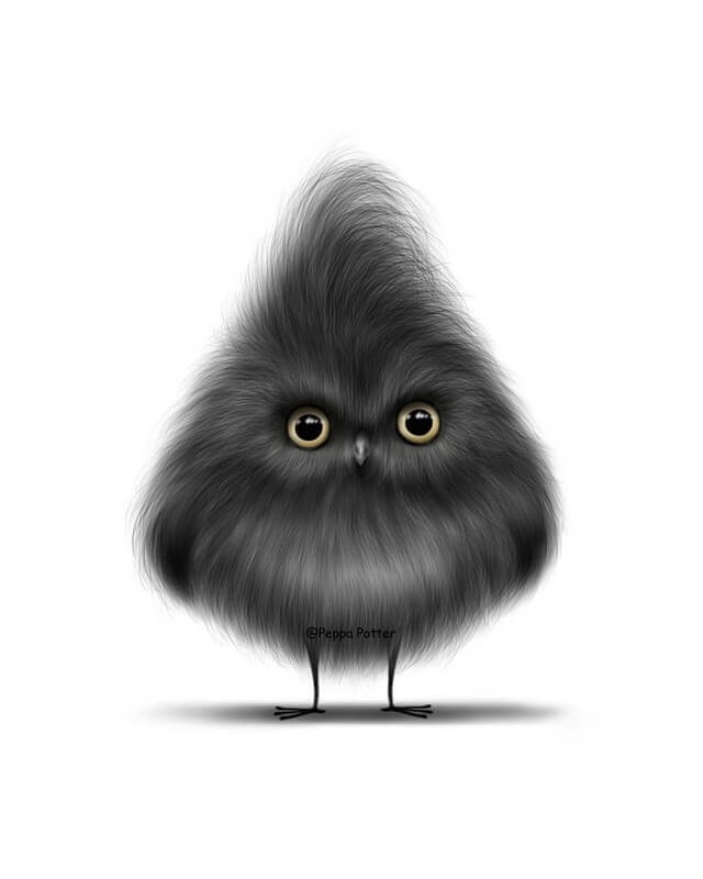 04-Owl-Maria-Fluffy-Animals-in-Digital-Art-Creatures-www-designstack-co