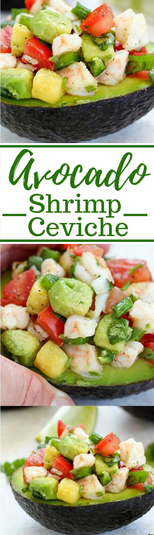 EASY AVOCADO SHRIMP CEVICHE RECIPE #veganfood #salad #healtyrecipes #appetizer