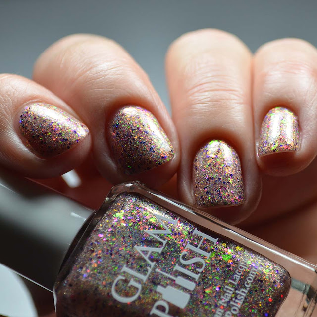 gold holographic low light swatch