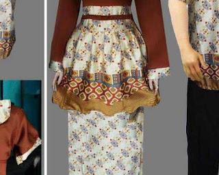 contoh model baju jubah sasirangan