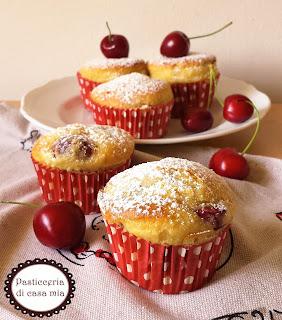 muffin ciliegie e yogurt ricetta di pasticceria di casa mia