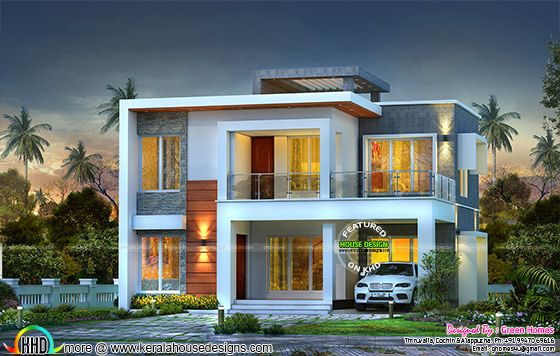 Contemporary 3 Bedroom Home 1800 Sq Ft Kerala Home