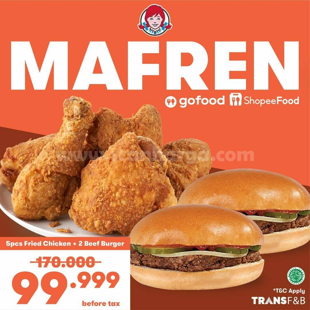 WENDY'S MAFREN Promo Makan Enak Harga Friendly mulai Rp. 99.999