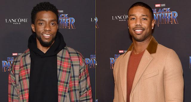 Wakanda Forever: 'Black Panther' stars Chadwick Boseman & Michael B. Jordan shine at MTV Awards