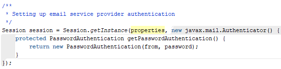 Authentication provider for GMail