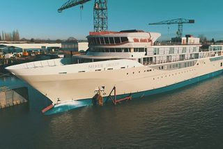 Silversea Cruises Silver Origin Floated out at De Hoop Shipyard in the Netherlands