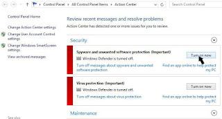 Cara Mengaktifkan Windows Defender di Windows 8