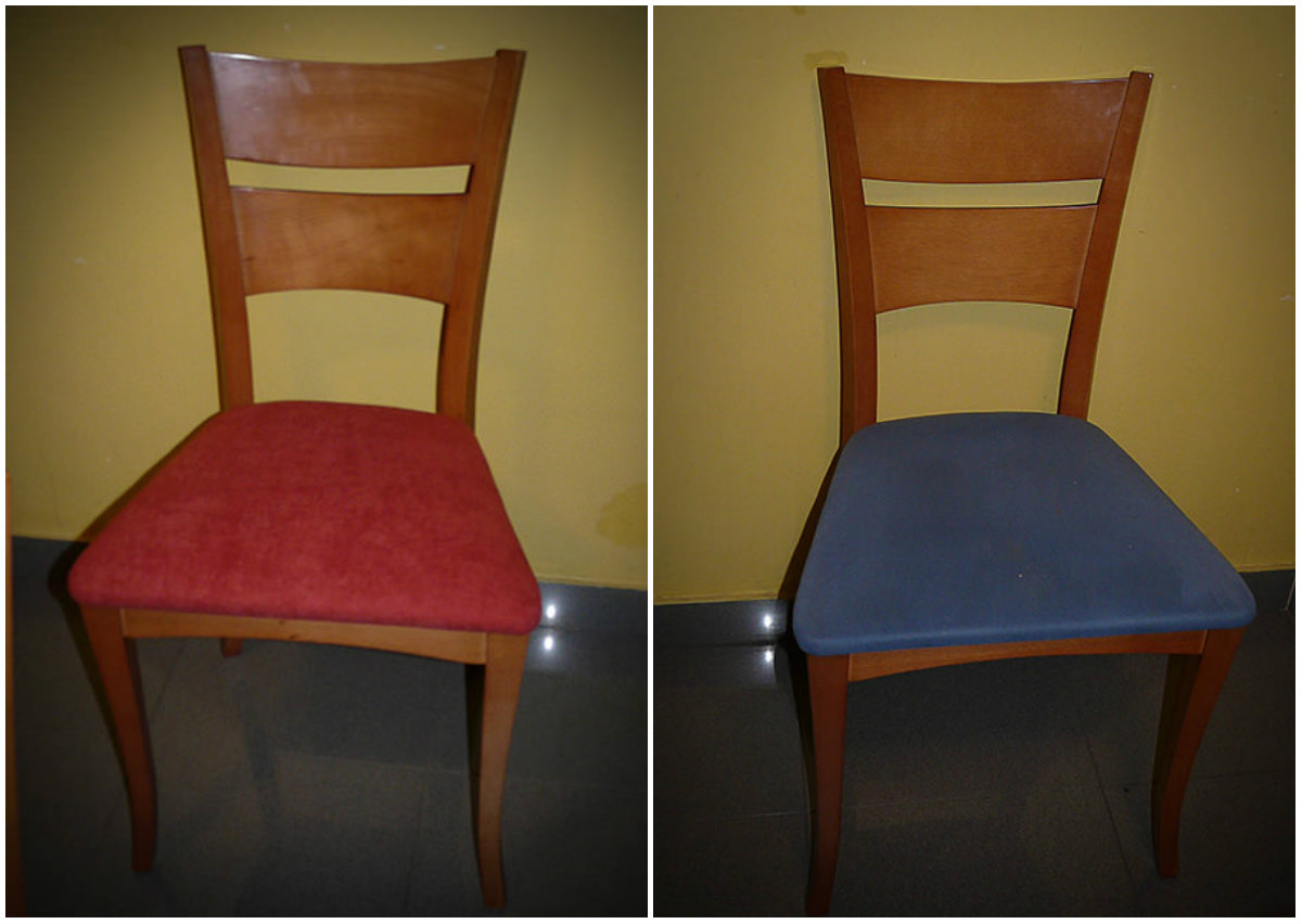 Tapizar f cil unas sillas gearecicla upcycling design - Chinchetas para tapizar ...
