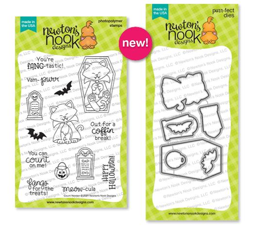 Count Newton   Halloween Cat Vampire Stamp Set & Die Set by Newton's Nook Designs #newtonsnook