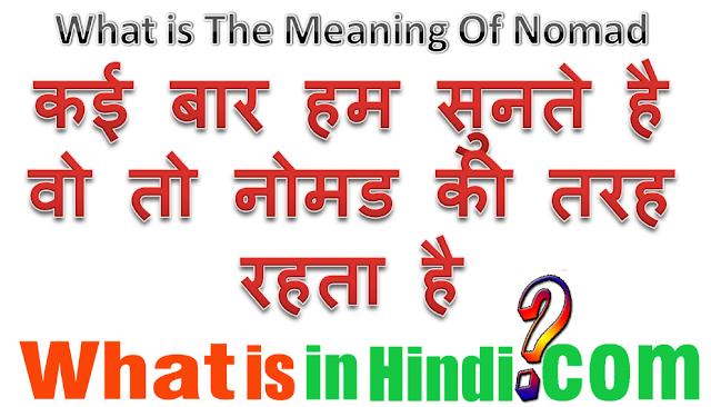 nomadic herding meaning in hindi