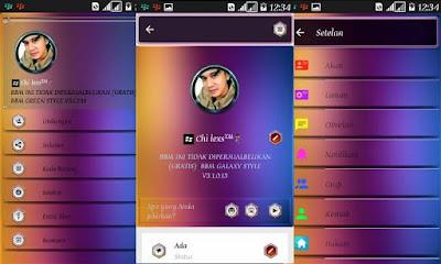 BBM MOD GALAXY ONE New Style v3.2.0.6 APK Update Terbaru 2016 Gratis