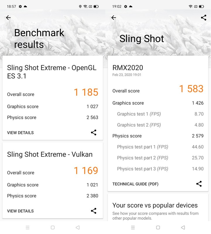 Benchmark 3DMark Realme C3